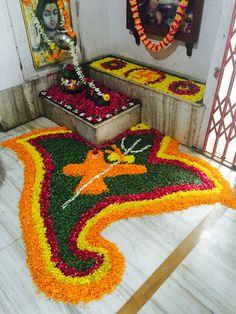 Shravan Somvar flower decor