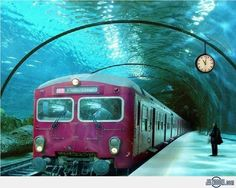 Underwater+Train. Practical & useful travel tips for the whole family. #travel #traveltips #familyholiday at familyglobetrotters.com