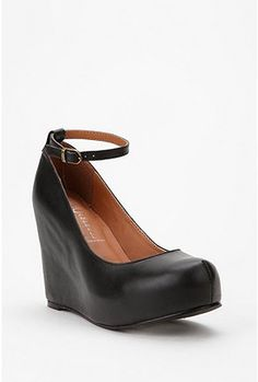 UrbanOutfitters.com > Jeffrey Campbell Leather Adelaide Wedge