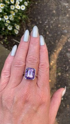 Handmade Ring by Lilly Shapiro. I combined Ametrine stone and Amethyst stones, which are set in 18k White Gold. I am selling this Ring for £2,250
