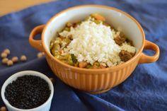 Gemüse-Curry mit schwarzen Linsen - Cooking Bakery Grains, Rice, Food, Easy Meals, Food Food, Meal, Essen, Hoods, Meals