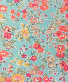 this Liberty print is so pretty and fresh, perhaps it will inspire the colour we paint our shop?