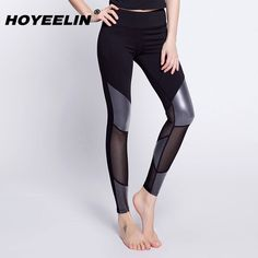 Find More Yoga Pants Information about HoYeeLin Sports Pants Sexy Mesh PU Patchwork Fitness Running Yoga Tights Quick Drying Slim Athletic Trousers Gym Pants,High Quality Yoga Pants from HoYeeLin Official Store on Aliexpress.com Gym Pants, Sport Pants, Yoga Pants, Women's Sports Leggings, Sports Women, Tights, Trousers, Mesh, Athletic