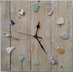 stan johnson ..beach driftwood clock