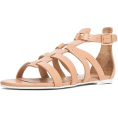 Chloe Gladiator Sandal in Nude ($675) ❤ liked on Polyvore