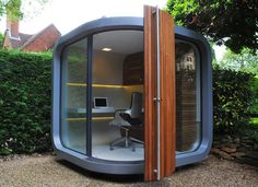 Outdoor Home #Office by OfficePOD // pinned by @welkerpatrick