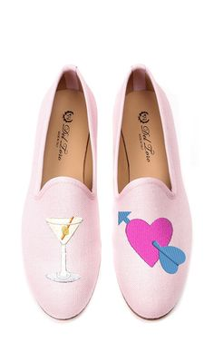 M'O Exclusive #drunkinlove Loafer In Pink by Del Toro for Preorder on Moda Operandi
