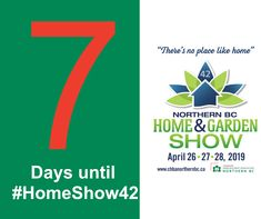 Just a week to Garden Show, Home And Garden, Bc Home, Chart, Day, Design