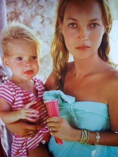 Kate Moss and Lila Grace Moss by Mario Testino