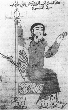 Cassiopea 'Book of Fixed Stars' (Kitāb suwar al-kawākib al-ṯābita) by 'Abd al-Rahman ibn 'Umar al-Ṣūfī, dated 1130-31AD (Topkapı Sarayı, Istanbul, manuscript Ahmet III 3493)