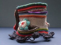 Symbiosis ... Freeform Crochet Cuff   by irregularexpressions