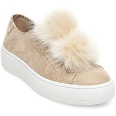 Steve Madden Women's Bryanne Sneakers ($90) ❤ liked on Polyvore featuring shoes, sneakers, nude multi, nude platform shoes, steve madden, high platform sneakers, platform sneakers and faux fur lined shoes