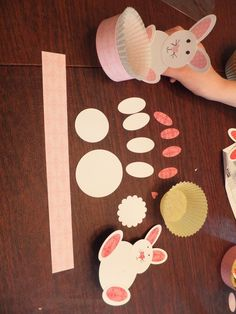 Easy Stampin' Up! punch art Easter craft.  Paper muffin cups hold your Easter candy for each place setting, so easy for kids to use. Punches, paper, glue and muffin paper cups is all you #Cute pet #pet girl #pet boy| http://lovelypetcollections.blogspot.com