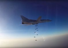 The US military has rubbished claims Russian fighter jets have flown their first combat mission in Syria alongside American-led coalition forces. Russian Fighter Jets, Russian Bombers, Russian Plane, Ancient Names, Syrian Civil War, Military Operations, North Africa, Aircraft, Syria