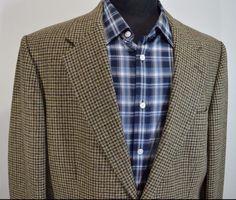 NEW EDDIE BAUER mens wool HOUNDS TOOTH 2 button sport coat blazer 44L 44 long l #Eddiebauer #TwoButton