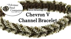 Make a Chevron V Channel Bracelet free tutorial from The Potomac Bead Company www.potomacbeads.com Buy Online: www.thebeadco.com