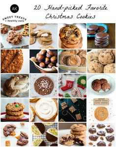 20 Favorite Christmas Cookies - including some gluten free options!