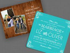 Rustic & Western Wedding Invitations