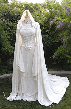 Renaissance, hand fasting, medieval wedding dress