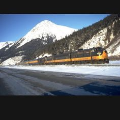 Alaska Railroad #alaska #railroad #train #mountains