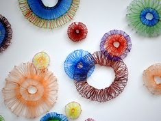 I love these 3d thread spirographs.  They have such a wonderful airy jellyfish feel!