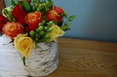 DIY Woodland Centerpiece    A great idea for holidays or everyday! Absolutely adorable!