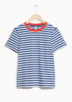 & Other Stories | Contrast Neck Striped Tee
