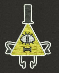 Bill Cipher Sew On Machine Embroidered Patch by JuliefooStitches