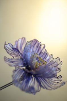 簪(かんざし)作家 榮 -sakae- 寒牡丹 from 野庵(http://www.a-yarn.com/) (Japanese hair accessory -Kanzashi- by Sakae, Japan http://sakaefly.exblog.jp/)