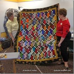 Elaine's Bricks & Stepping Stones is going to a local women's shelter to comfort others! <3  The free pattern for Bricks & Stepping Stones is found under the free patterns tab at the top of the blog here: http://quiltville.blogspot.com/p/free-patterns.html