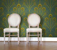 Sarah LaVoie Peacock Wallpaper Tiles | Wall Decals