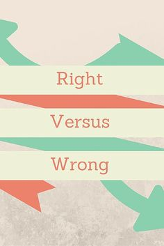 Right Vs Wrong: This post talks about how difficult it is to do the right thing, but why it's important to do it. It shows the difficulties and the benefits. http://www.in-the-book.net/to-do-the-right-thing/
