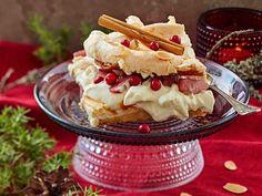 Britakakku on klassikko! Jouluisen britan täytteessä on omenaa ja glögiä. Katso herkullisen joulukakun ohje!