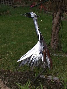 Stainless Steel Stork by George Foxe