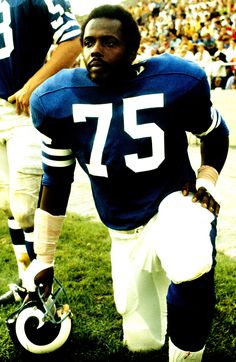 """The Architecht of  """"THE SACK""""  Deacon Jones, Los Angles Rams. Class of 1980. https://www.fanprint.com/licenses/los-angeles-rams?ref=5750"""