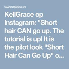 "KellGrace op Instagram: ""Short hair CAN go up. The tutorial is up! It is the pilot look ""Short Hair Can Go Up"" on my tutorial page. KellGrace.teachable.com. (Link…"" • Instagram"