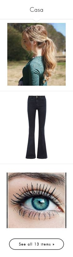 """""""Casa"""" by hola26914769 ❤ liked on Polyvore featuring accessories, hair accessories, hair, hairstyles, jeans, pants, bottoms, denim, stella mccartney and dark denim"""