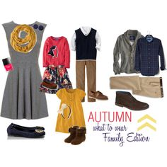 Autumn What to Wear- family edition by megslens, via Polyvore