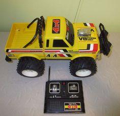 Vintage Radio Shack 4x4 Off Roader Radio Controller Yellow Pickup Truck Works #RadioShack