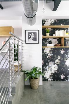 Bold wallpaper styling #glitterguide