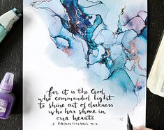 Alcohol Ink Crafts, Alcohol Ink Painting, Alcohol Ink Art, Bible Verse Painting, Bible Verse Wall Art, Sagittarius Tattoo Designs, Watercolor Paintings For Beginners, Ink Addiction, Paint Cards