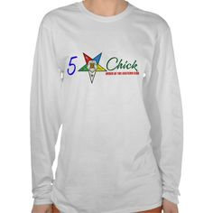 OES:5 Star Chick (LS White) Tees