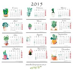 calendario anual 2015 para imprimir