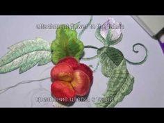 ОБЪЕМНАЯ ВЫШИВКА(КРЕПЛЕНИЕ)(Fixing to the fabric flower) STUMPWORK - YouTube