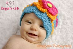 Crochet by Dugan's Girls  ~Puffs n' Bloom Hat~  https://www.facebook.com/pages/Dugans-Girls/147396202020393  #DugansGirls