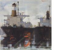 PREKAS Greek Art, Painters, Boats, Ships, Artists, Watercolor, Paris, Watercolour, Boating