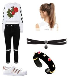 """""""Sin título #21"""" by daniela-reque on Polyvore featuring moda, Off-White, Boohoo, adidas, NIKE y Fallon"""