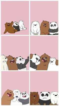 Cute Panda Wallpaper, Neon Wallpaper, Cute Patterns Wallpaper, Cute Wallpaper Backgrounds, Wallpaper Iphone Cute, We Bare Bears Wallpapers, Panda Wallpapers, Cute Cartoon Wallpapers, Ice Bear We Bare Bears