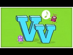 "The StoryBots celebrate how very awesome the letter ""V"" is, and sing about volcanoes, vacations, and violins! The StoryBots are curious little creatures who . Preschool Music, Preschool Letters, Letter Activities, April Preschool, Alphabet Video, Alphabet Songs, Letter Sound Song, Letter Sounds, Teaching Letters"