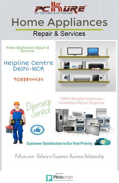 We are a Service Provider, at PCkure we do service and repairing for all your Home Appliances such as AC, Fridge, Washing Machine, Microwave Oven, Water Purifier, Computer, Laptop and Printer. For more Details and Discount Coupon visit us:- www.pckure.com                                                           9088844434